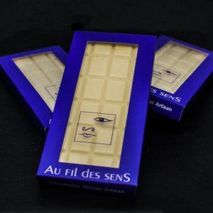 Tablette chocolat Blanc par Au Fil des Sens
