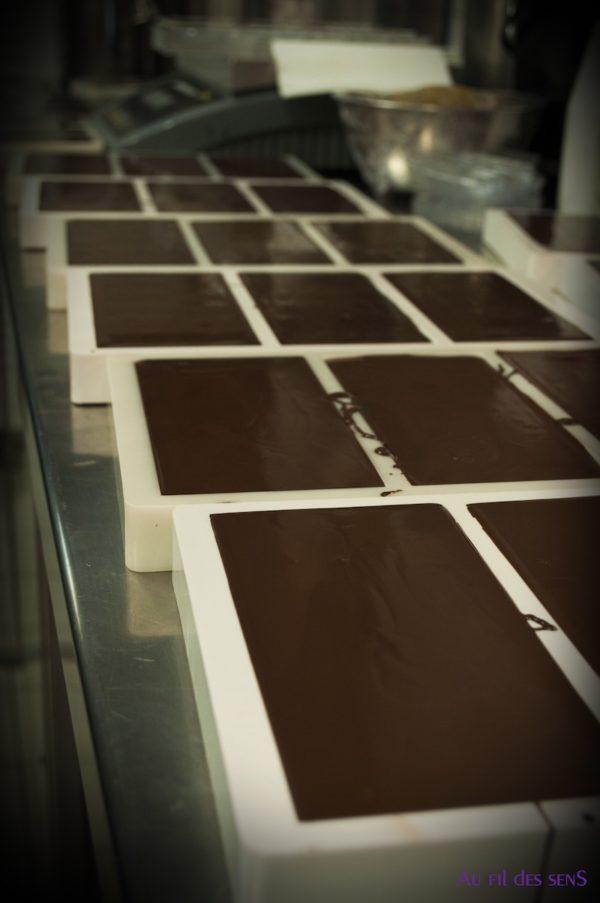 Tablette de chocolat artisanale - au fil des sens